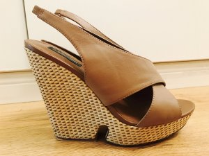 Platform High-Heeled Sandal light brown-nude