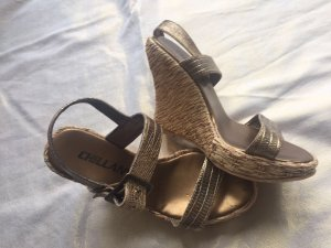 Wedge Sandals bronze-colored