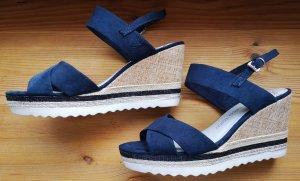 Marco Tozzi Platform High-Heeled Sandal beige-dark blue