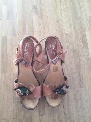 High-Heeled Sandals light brown