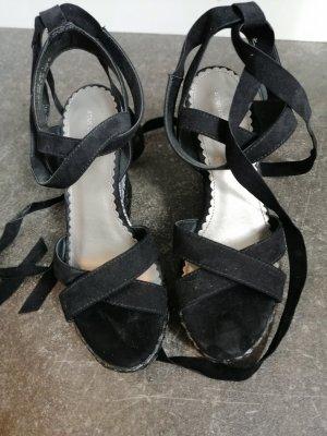 Wedge Sandals white-black