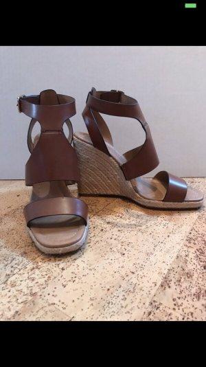 Zara Sandalias de tacón alto marrón-coñac