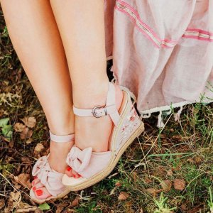 5th Avenue Wedge Sandals multicolored suede