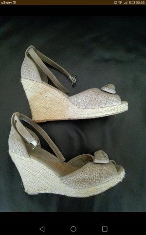 Sandalen met bandjes en hoge hakken groen-grijs-olijfgroen