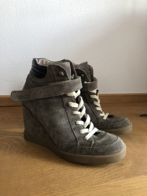 Buffalo Platform Boots grey brown