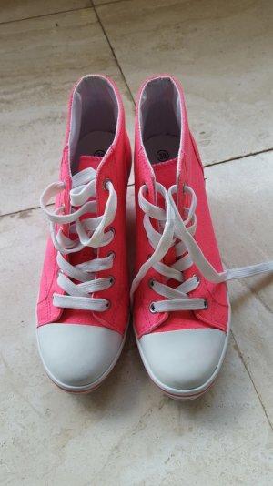 Keilschuhe in Pink Größe 38
