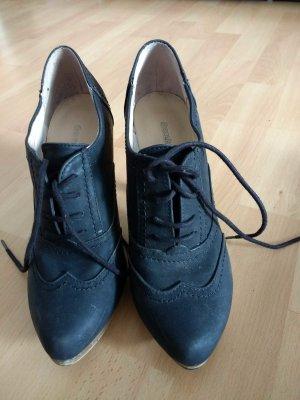 Deichmann Heel Pantolettes black