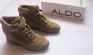 Aldo Lace-up Booties beige leather