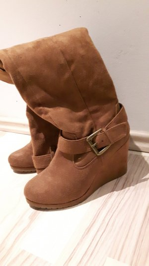 Primark Platform Boots beige-light brown