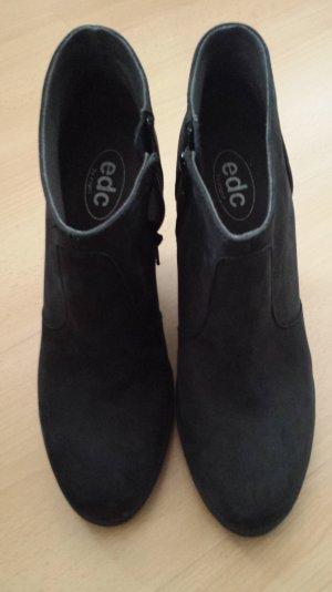 Keilstiefelette von EDC Esprit Gr 41 dunkelgrau/schwarz