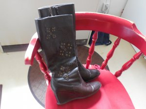 Stretch laarzen brons