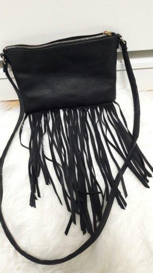 H&M Bolso de flecos negro