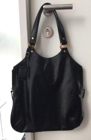 Saint Laurent Handbag black-gold-colored leather
