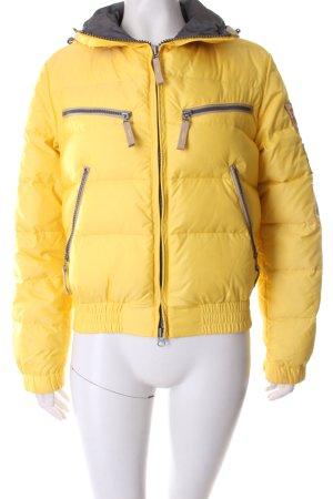 Kejo Daunenjacke gelb-grau sportlicher Stil