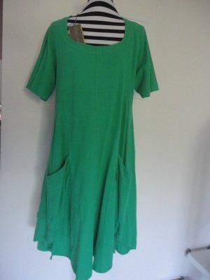 Kekoo Vestido línea A verde bosque-verde Algodón