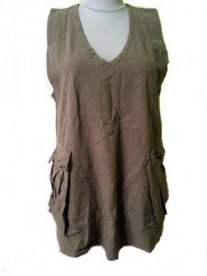 Kekoo Oversized blouse khaki-grijs-bruin Katoen