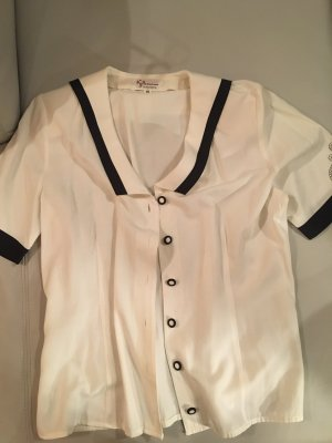 KELLERMANN of SCANDINAVIA ausgefallene Marine Bluse, vintage, retro Gr. 38, wie NEU