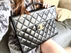 Kelly Kaviar Business Laptop Vintage Tasche Chanel