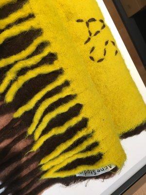 Acne Sciarpa con frange multicolore Lana