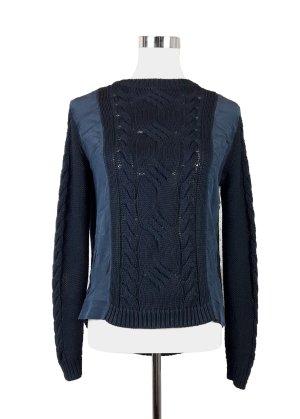 KEN Pullover aus Baumwolle und Seide navy blue Gr.S