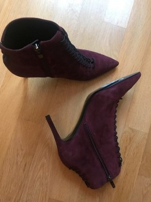 Kendall + Kylie Peep Toe Booties bordeaux