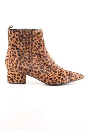 Kendall + Kylie Botines Chelsea coñac-marrón-negro estampado de leopardo