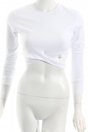 Kendall + Kylie Cropped Shirt white party style