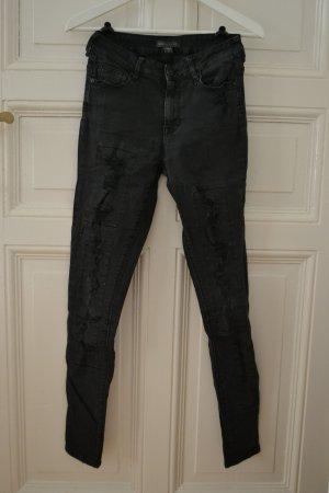 Kendall + Kylie Hoge taille jeans zwart