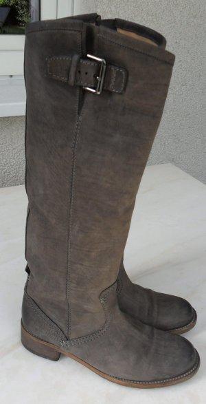 Kennel und Schmenger Botas estilo militar marrón grisáceo Cuero