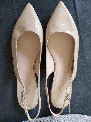 Kennel und Schmenger Ballerina aperta sul tallone color carne-beige chiaro