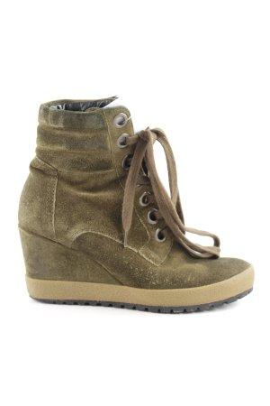 Kennel + schmenger Absatz Sneaker olivgrün extravaganter Stil
