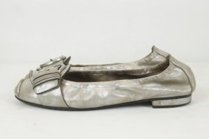 Kennel & Schmenger Ballerina Schuhe Flats Gr. 6,5 silber