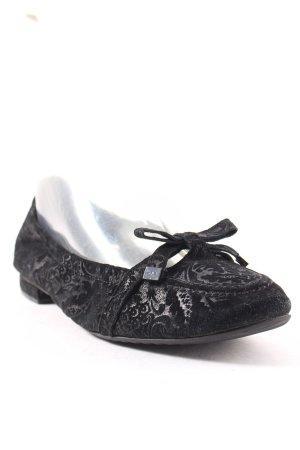 Kennel + schmenger Ballerinas schwarz Ornamentenmuster Romantik-Look