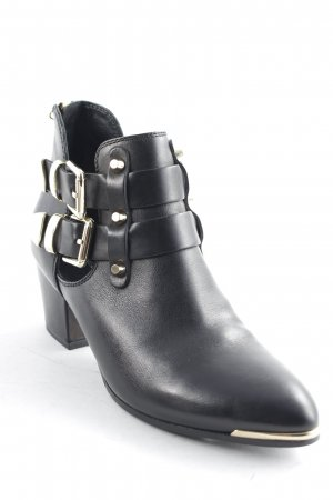 Kennel + schmenger Booties schwarz-goldfarben Street-Fashion-Look
