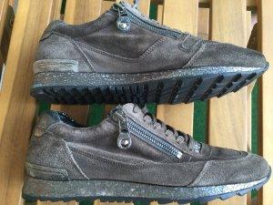 Kennel&Schmenger Braune Wildleder Sneaker Schuhe mit Glitzer sehr guter Zustand #Schnäppchen 37,5