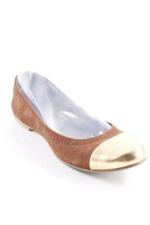 Kennel + schmenger faltbare Ballerinas goldfarben-braun Casual-Look