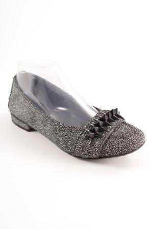 Kennel + schmenger faltbare Ballerinas schwarz-weiß abstraktes Muster