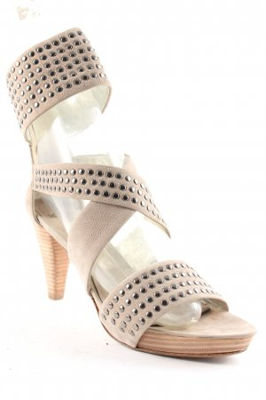 Kennel + schmenger High Heel Sandaletten graubraun-silberfarben Elegant