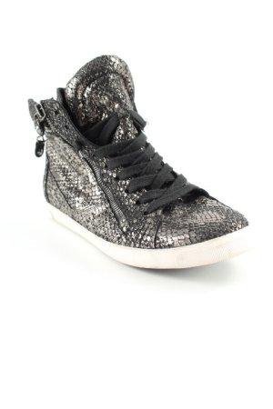Kennel + schmenger High Top Sneaker schwarz-silberfarben Animalmuster