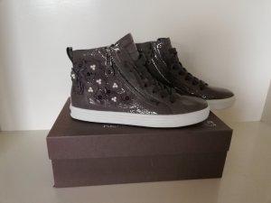 Kennel & Schmenger Hightop Sneakers Boots Town  37 NEU grau Nieten Blumen Nieten