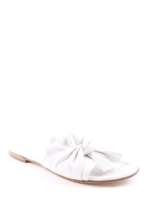 Kennel + schmenger Komfort-Sandalen weiß-braun Romantik-Look