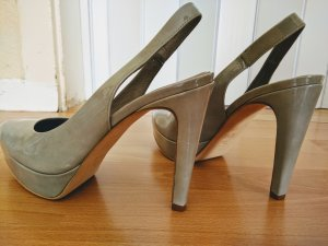Kennel und Schmenger Slingback Pumps light grey-oatmeal leather