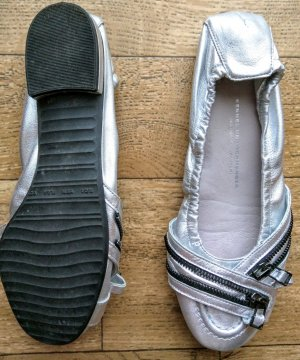 Kennel und Schmenger Patent Leather Ballerinas silver-colored-light grey leather