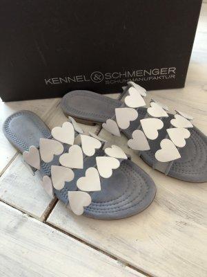Kennel und Schmenger Strapped High-Heeled Sandals white-light grey