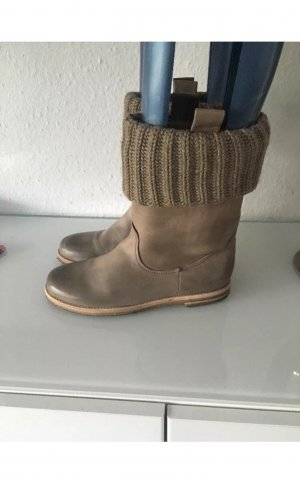 Kennel&Schmenger Leder Stiefel Khaki Gr 7/40 grau