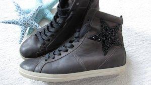 Kennel+Schmenger*LuXuS Sneaker high * stone-grey Glitzer-Stern * 41