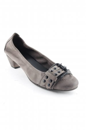Kennel + schmenger Mary Jane Ballerinas grey brown Rivet detail