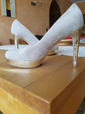 Kennel&Schmenger nude pumps Golddetails gr37 neu