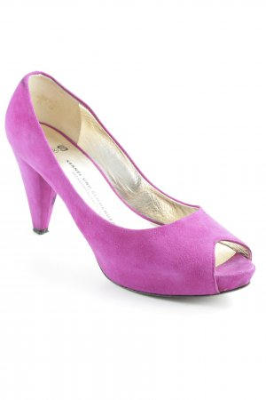 Kennel + schmenger Peep Toe Pumps lila elegant