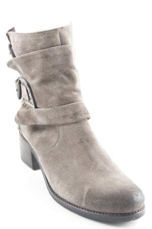 Kennel + schmenger Reißverschluss-Stiefeletten grau Casual-Look
